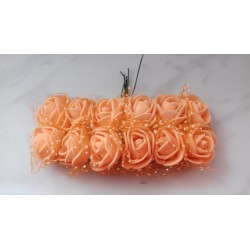 Różyczki piankowe z tiulem