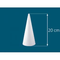 Stożek styropianowy 20cm