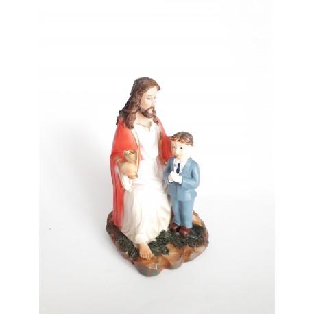 Figurka komunijna Jezus z chłopczykiem