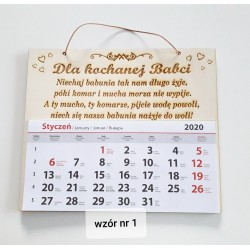 Kalendarz Babci