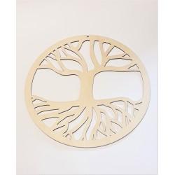 Dekoracja koło z drzewem - baza