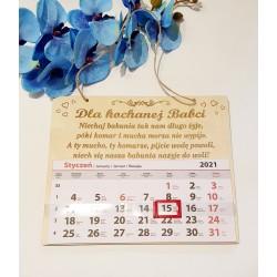 Kalendarz całoroczny dla Babci