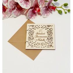 Drewniana kartka EKO Z okazji Sakramentu Bierzmowania