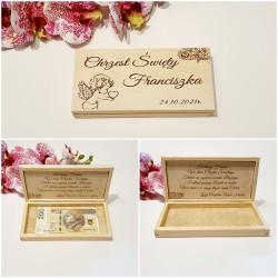 Drewniane pudełko na pieniądze